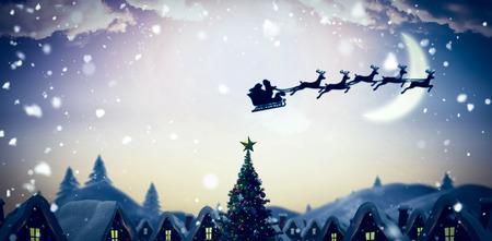 santas village: Santa delivery presents to village