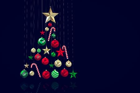 decoraciones de navidad: Adornos navideños Foto de archivo