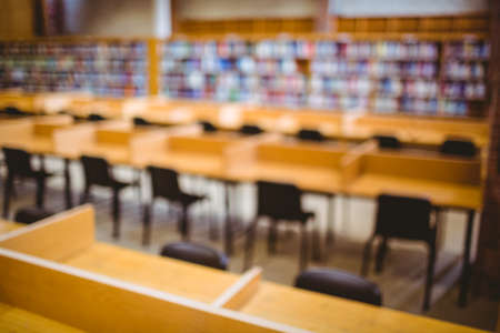 Leere Bibliothek an der Universität