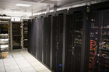lockers: Servers in lockers at the data centre