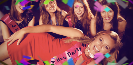 party friends: Flying colours against pretty friends on a hen night