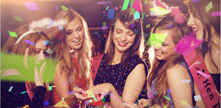 hen party: Flying colours against pretty friends on a hen night