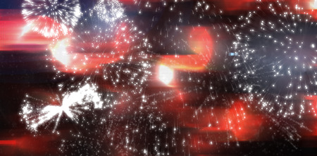 space program: Digitally generated white fireworks exploding on black background