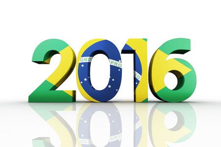 trouser legs: 2016 graphic against brasil national flag