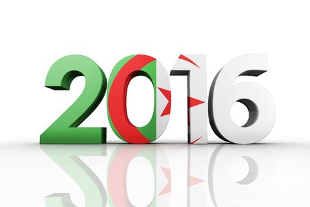 trouser legs: 2016 graphic against algeria national flag