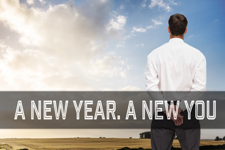 Motivational New Years Message Against Composite Image Of ...
