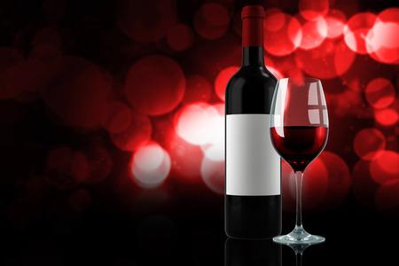 bebes lindos: vino tinto contra parpadeantes luces rojas y anaranjadas