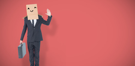 well dressed: Anonymous businessman against red vignette Stock Photo