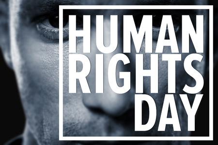 derechos humanos: Primer plano retrato de jugador de rugby seus contra los derechos humanos