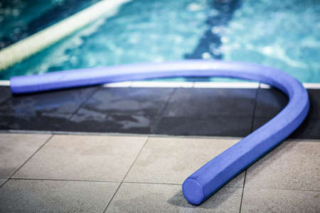 leisure centre: Foam roller in the pool at the leisure centre