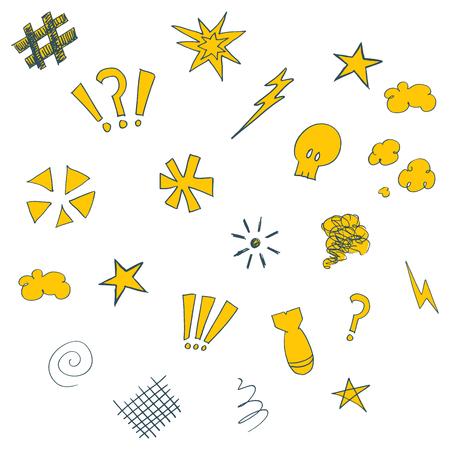 swearing: Swearing doodles Stock Photo