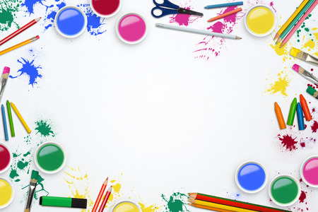 colour pencils: Art supplies and pencils Stock Photo
