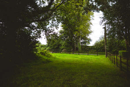 pursuits: View of green field in the countryside LANG_EVOIMAGES