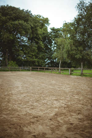 recreational pursuits: View of a paddock in the countryside LANG_EVOIMAGES