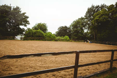 recreational pursuits: View of field for horse in the countryside