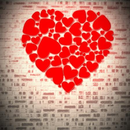 in liebe: ich liebe dich against grey brick wall Stock Photo