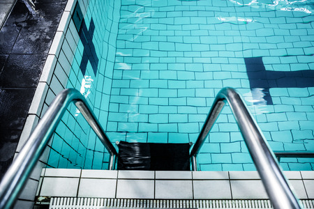 lane marker: Water moving in the swimming pool at the leisure centre