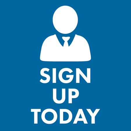 royal blue: sign up today against royal blue