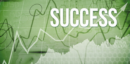 winning stock: The word success and stocks and shares against stocks and shares on black background