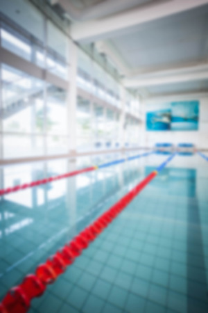 recreational pursuits: View of a swimming pool Stock Photo