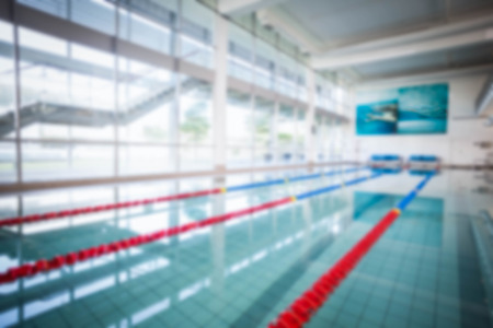 recreational pursuits: Blurry view of a swimming pool
