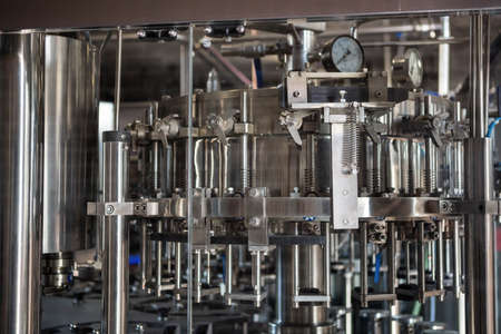 microbrewery: Steel machinery for beer brewing at the microbrewery