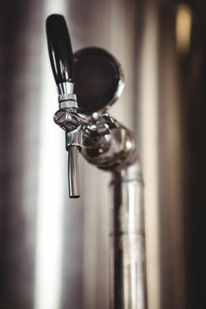 microbrewery: View of tap at the microbrewery