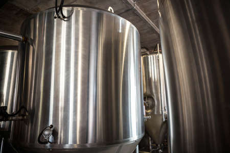microbrewery: Large vat of beer at the local brewery