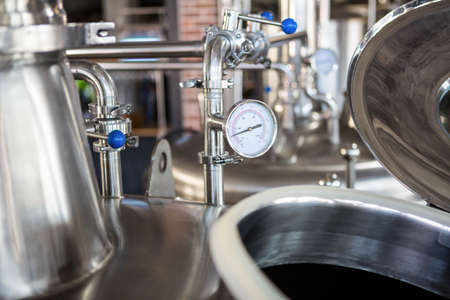 vats: Large vats of beer at the local brewery LANG_EVOIMAGES