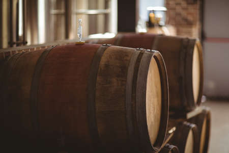 brewery: Large wooden barrels at the local brewery LANG_EVOIMAGES