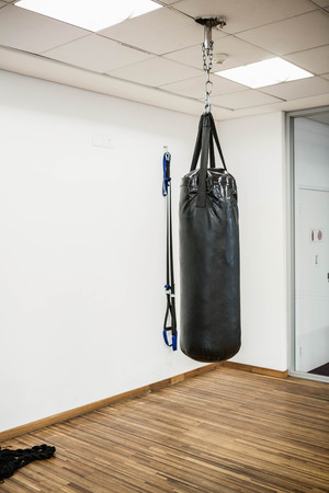 punching bag: Punching bag in studio
