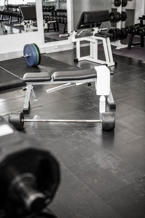 weight room: Close up of a bench in a gym Stock Photo