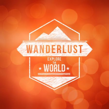 wanderlust: Wanderlust word against world map with compass showing southern asia
