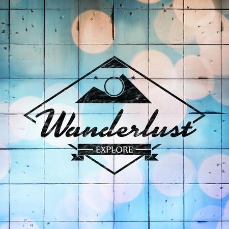 wanderlust: Wanderlust  against wooden planks Stock Photo