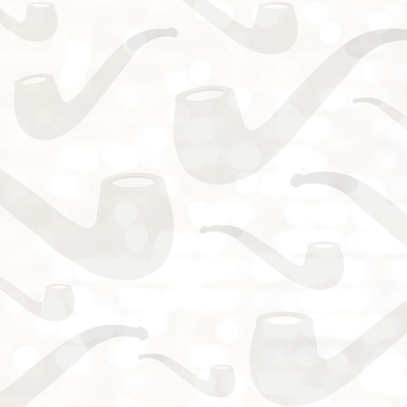 smokers: Pipe against white wall Stock Photo
