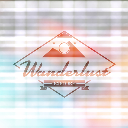 wanderlust: Wanderlust word against textured background