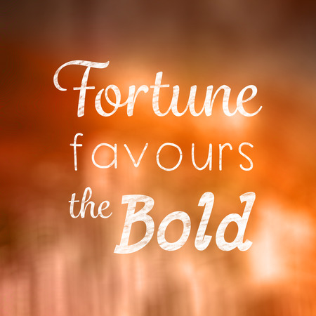 favours: Fortune favours the bold words against hand drawn city plan Stock Photo