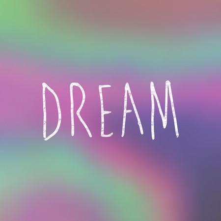 buzzword: Dream word against grey background Stock Photo