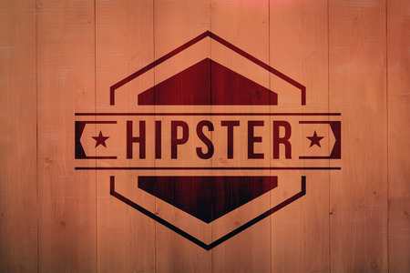 planks: Hipster against red wooden planks