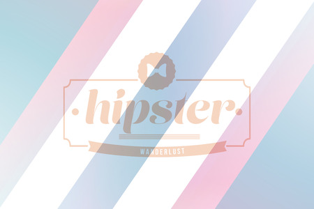 wanderlust: Hipster word against colored background