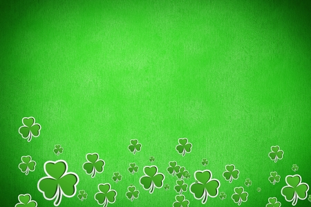 st  patty: Picture of shamrock for st patricks day on green background