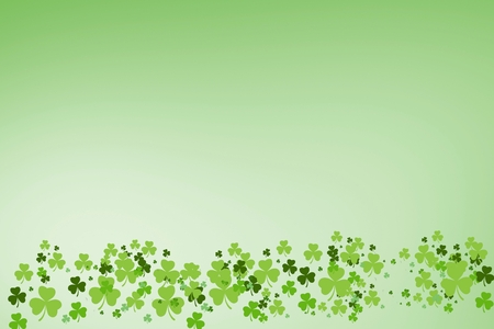 st  patty: Picture of green shamrock on green background