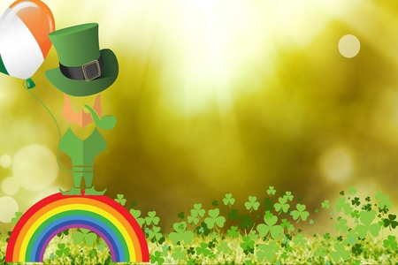 st patty day: Picture for st patricks day with shamrock