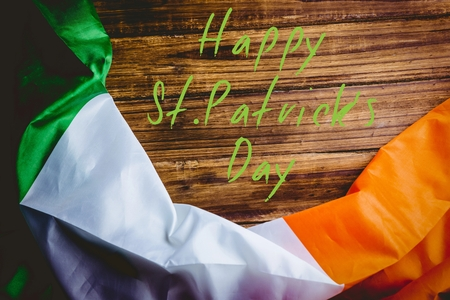 st patty day: St patricks day greeting on wooden background