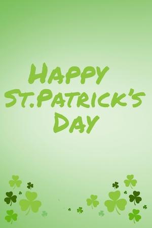 st  patty: St patricks day greeting on green background Stock Photo