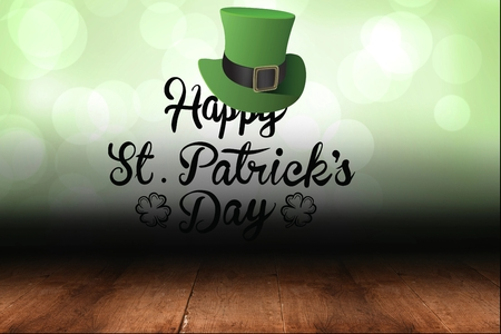 saint patty: St patricks day greeting on green background Stock Photo
