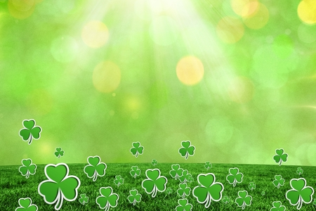 saint patty: Picture for st patricks day with shamrock