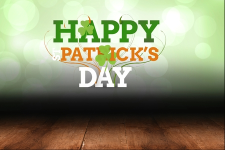 saint patty: Text of happy st patricks day