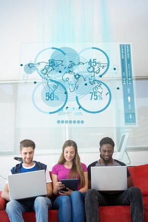 futurist: Futurist interface against creative team in office