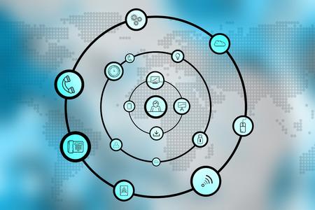 angular: Technology icon against angular design